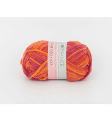 Printed merino yarn. 100% wool.