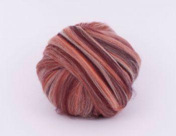 Wool tops merino multicolor