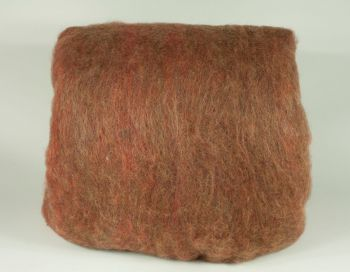 Carded multi-color wool
